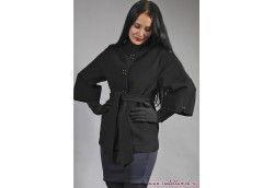 Женское демисезонное итальянское пальто. Артикул Vip-4348 черный