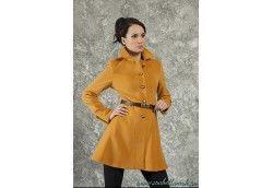Женское молодежное пальто. Артикул 10-01 горчица