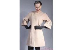 Модное пальто с вышивкой Весна-Осень