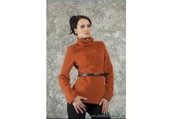Эксклюзивное женское пальто. Артикул 102 терракот