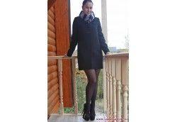 Драповое зимнее пальто с мехом