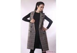 Женское пальто жилет клетка