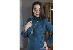 Бирюзовое вязаное платье