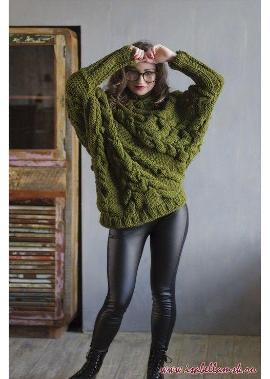 Вязаный свитер ель