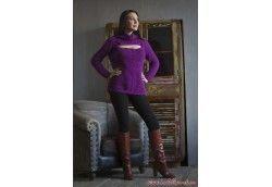 Вязаный мохеровый свитер