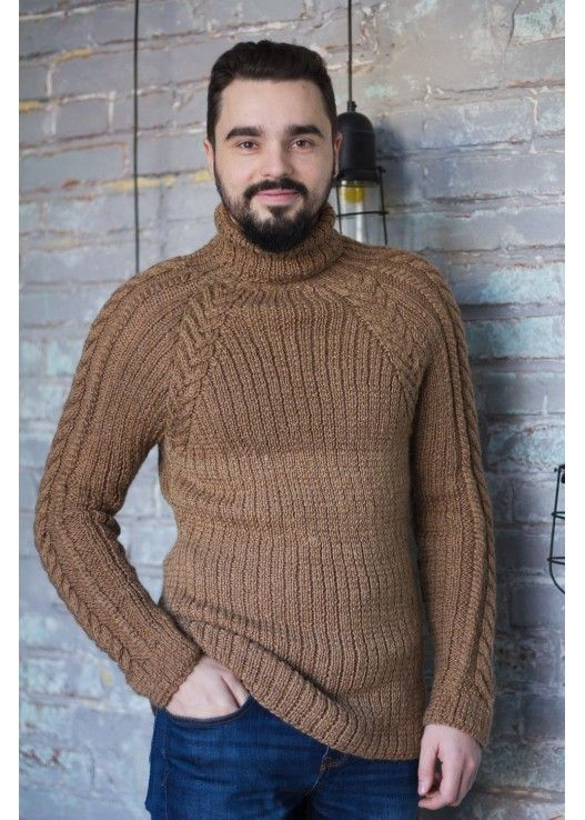 Верблюжий мужской свитер
