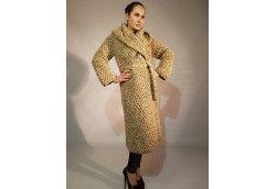 Вязаное пальто бежевый