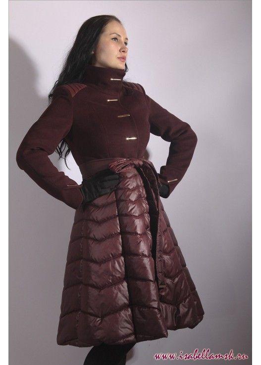 Пальто 4050 Вино