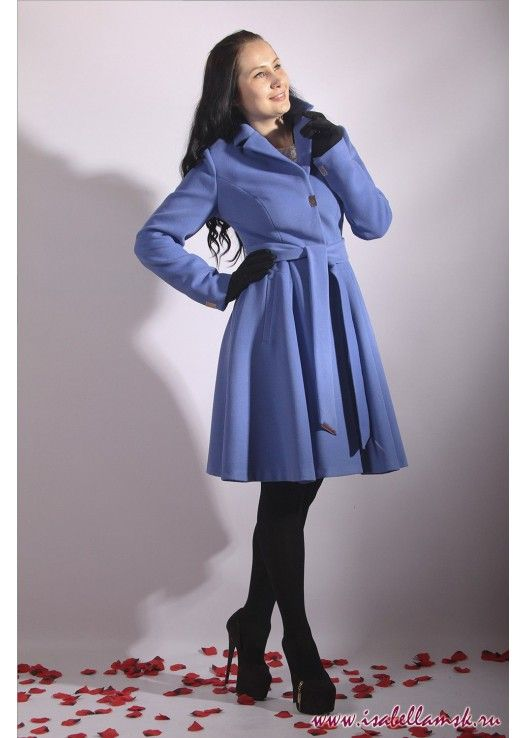 Пальто 17-263 фиалка юбка