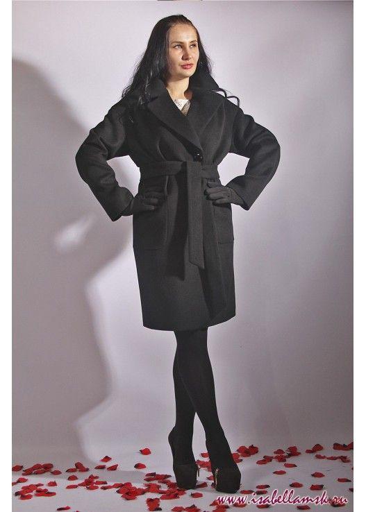 Пальто 17-147 черный халат