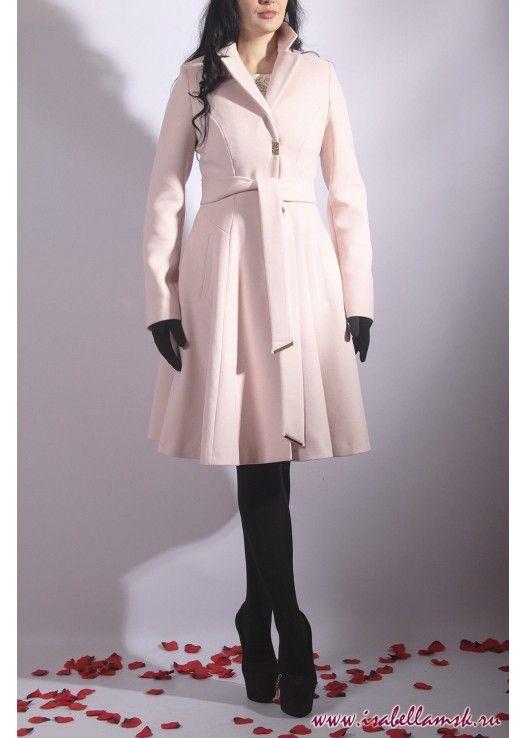 Пальто 17-263 пудра юбка