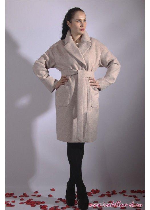 Пальто 17-147 беж халат