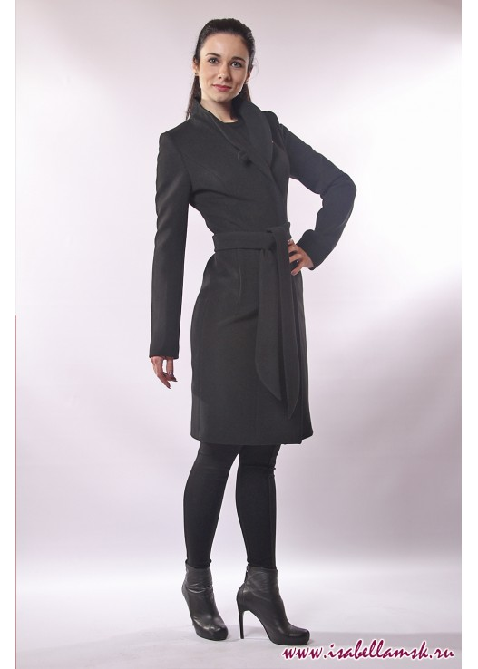 Женское длинное пальто классика