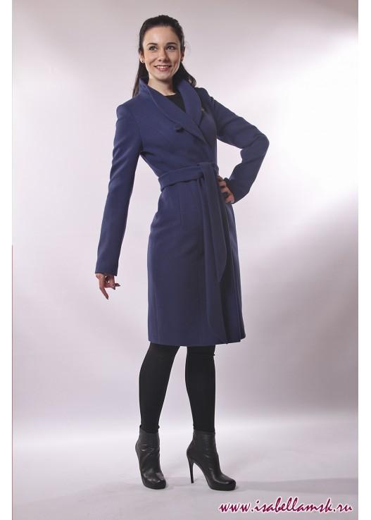 Женское классическое пальто фиалка