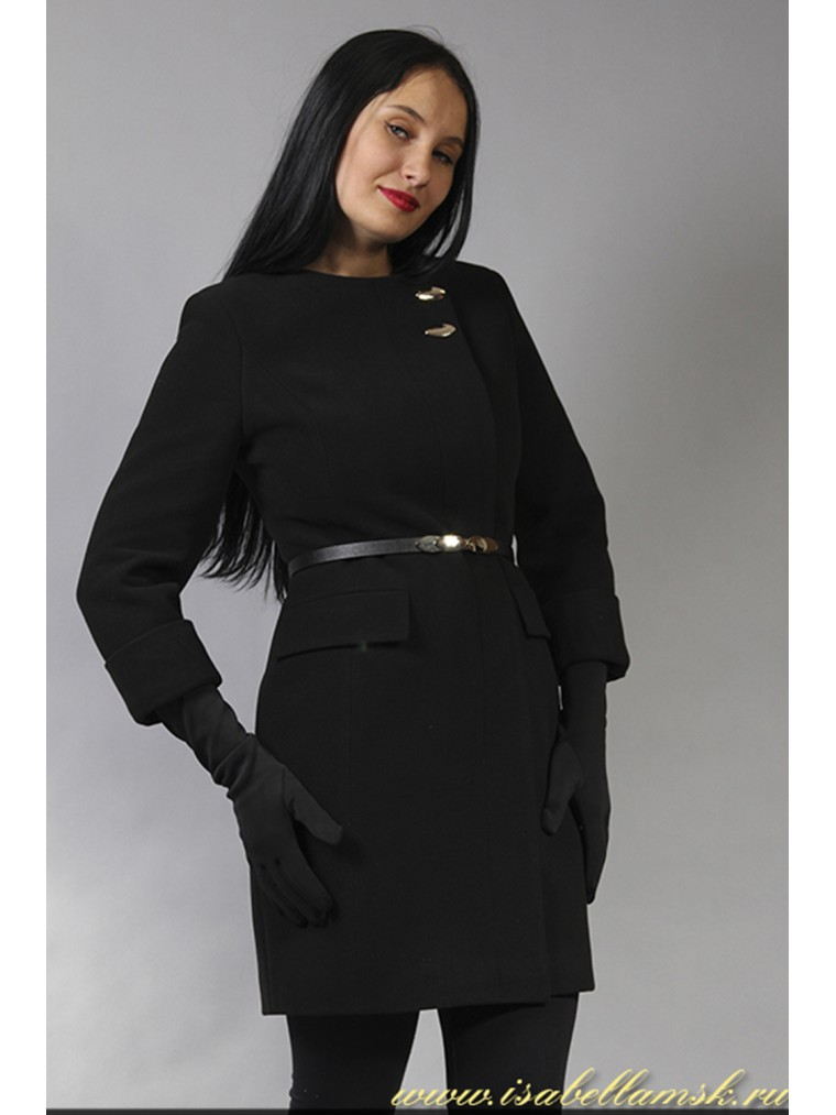 cc86cf5b9e1 Купить Женское пальто в стиле Шанель черное в Москве недорого