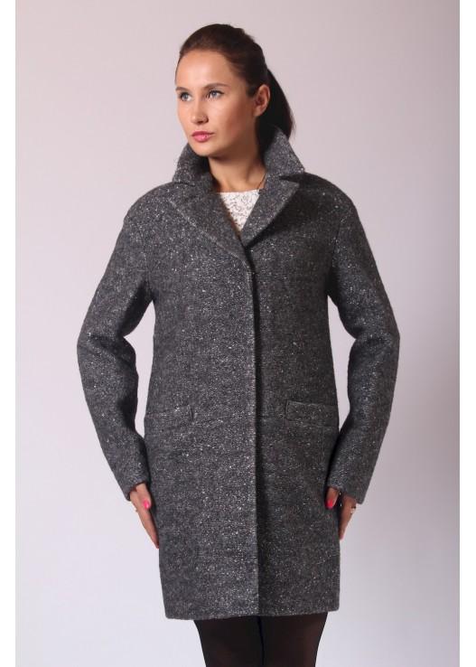 Пальто пиджак прямого кроя