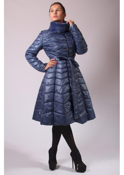 Стёганое пальто на шерстипоне