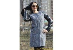 Стильное молодежное пальто. Артикул 14-144 твид