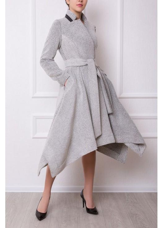 Драповое платье пальто