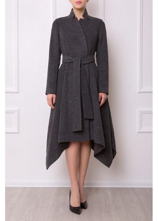 Драповое пальто с юбкой