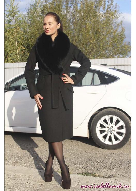 Женское зимнее пальто футляр