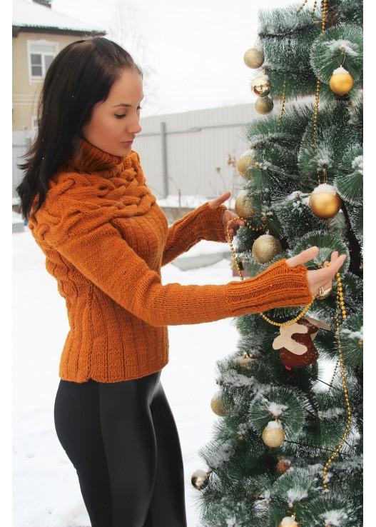 Вязаный свитер на заказ ручной работы