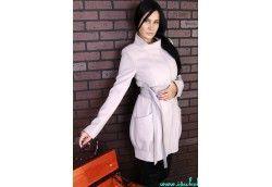 Осеннее женское пальто. Артикул 11-11 бежевый