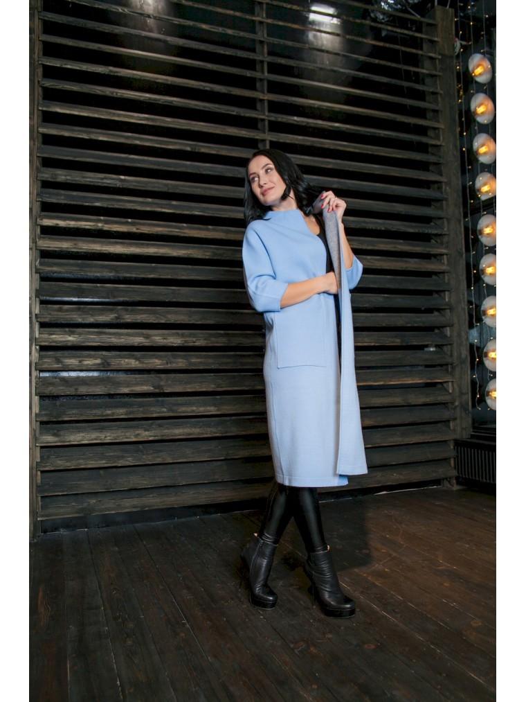 22565ff142b0 Мода Весна 2018 трикотажное пальто-кардиган купить пальто в Москве ...
