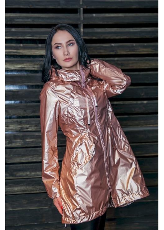 Золотой дизайнерский плащ мода Весны 2018