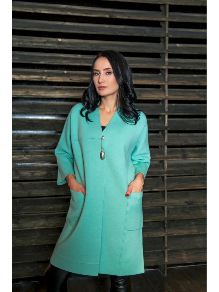 906b2173295a Мята трикотажное пальто кардиган тренд весны 2018 купить пальто в М...