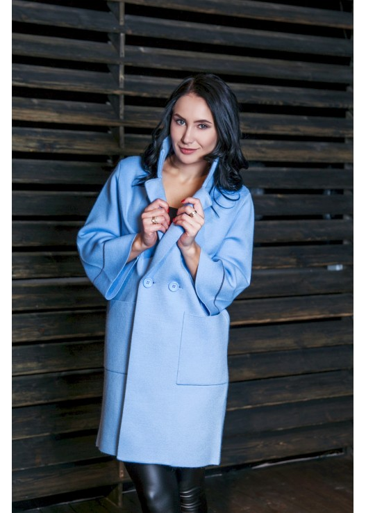 Классическое пальто из трикотажа новая мода