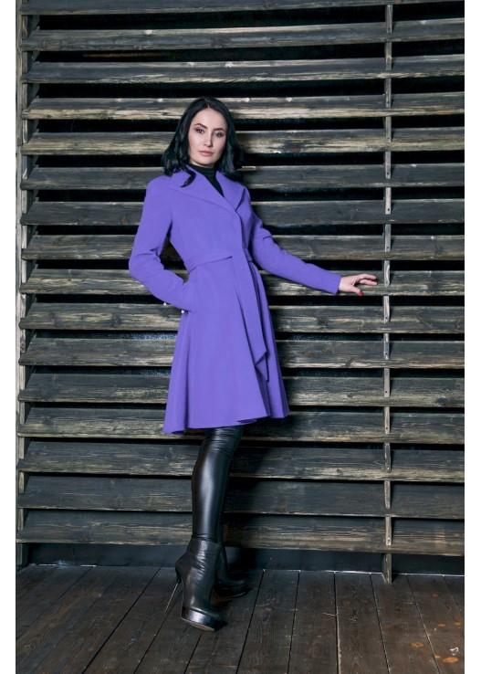 Классическое пальто с юбкой Лаванда