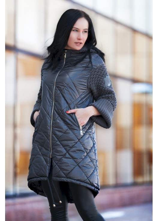 Женская куртка на весну с утеплителем