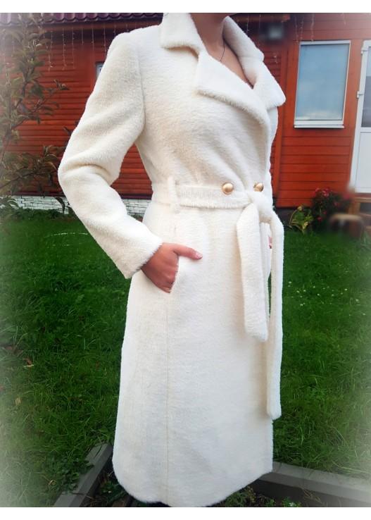 Купить белое женское пальто Осень 2018