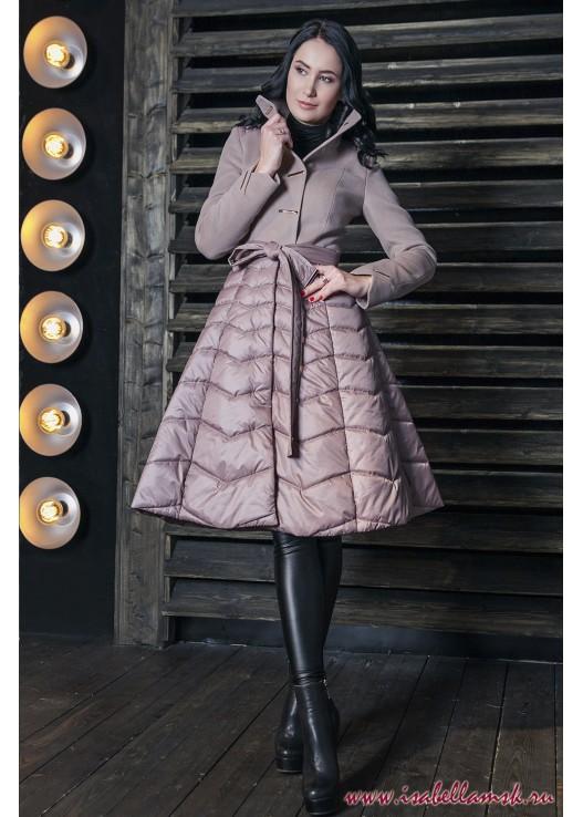 Пальто демисезонное комбинация юбка
