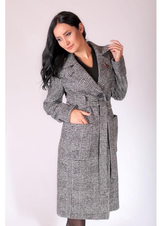 Пальто в клетку женское на Осень 2018