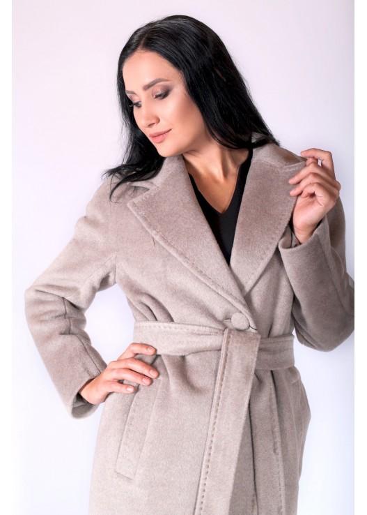 Пальто халат с поясом осень 2018