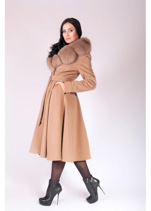 Модное зимнее пальто с юбкой зима 2019