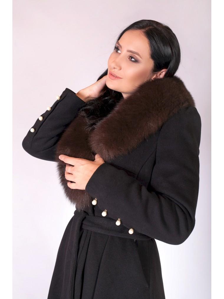 b141590477e Зимнее пальто с меховым воротником зима 2018-2019 купить зимнее жен...
