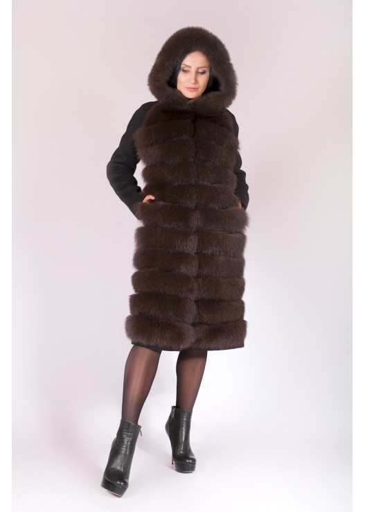 Пальто зима 2018 с капюшоном