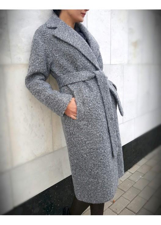 Осеннее женское пальто халат