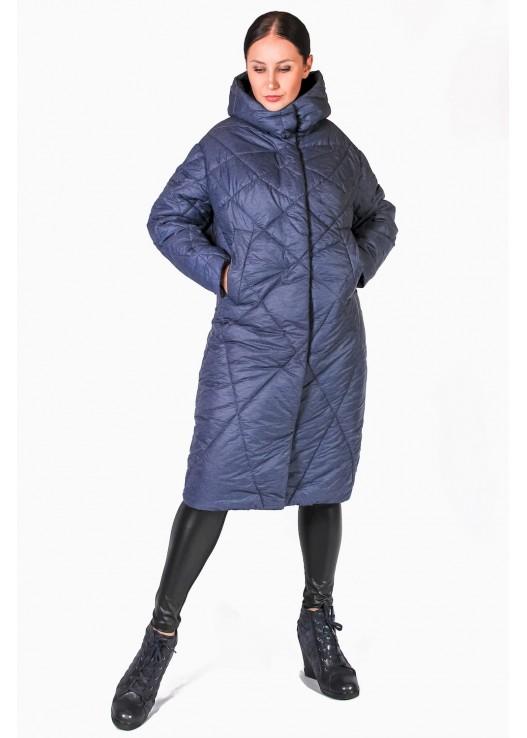 Стёганое дутое пальто с капюшоном Зима 2018-2019
