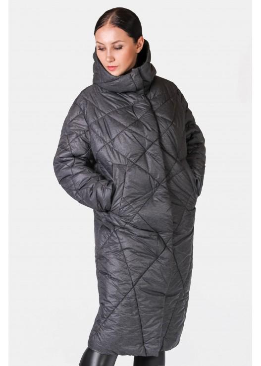 Стёганое пальто с капюшоном Зима 2018-2019