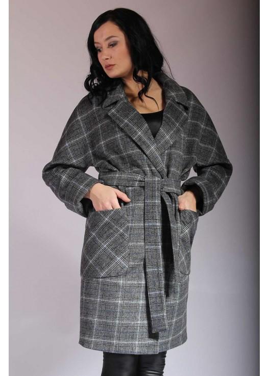 Купить женское пальто в клетку