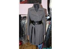 Утеплённое женское зимнее пальто без меха