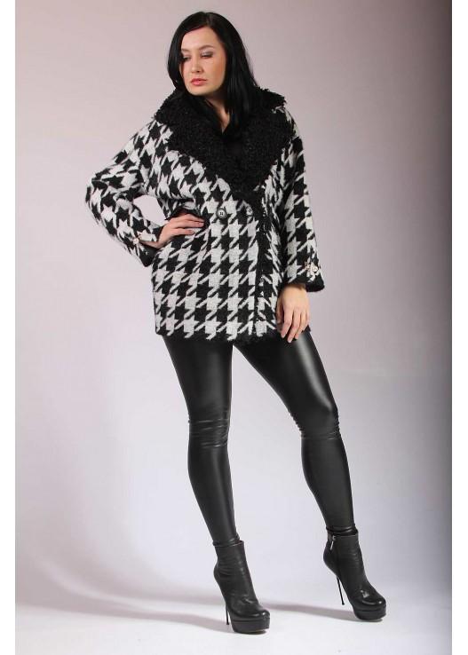 Дизайнерское женское пальто бочонок