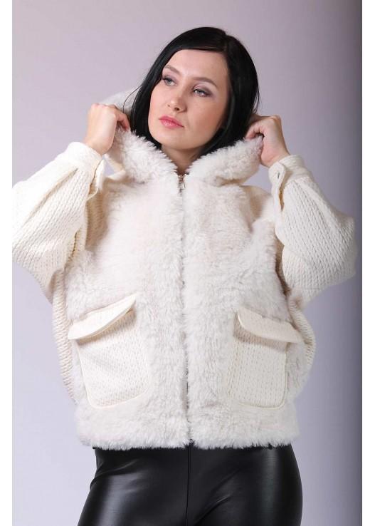 Дизайнерская женская куртка летучая мышь