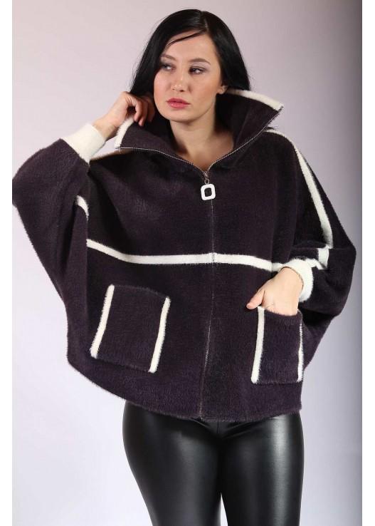 Женское пальто летучий рукав