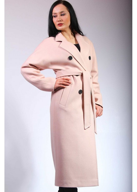 Стильное двубортное пальто