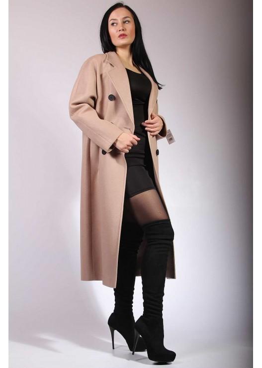 Женское пальто оверсайз, халатного типа